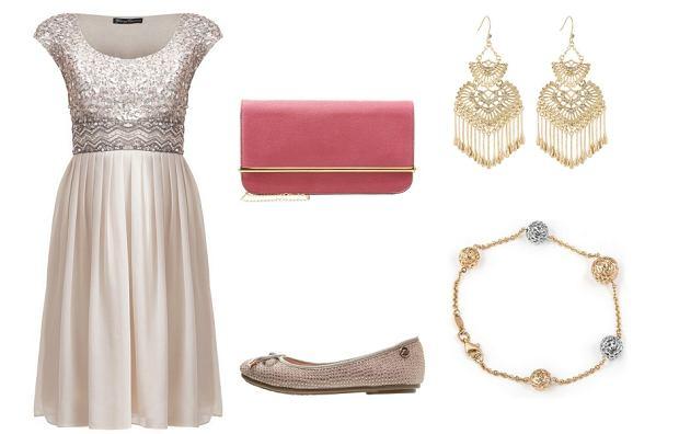 Stylizacja weselna z sukienką