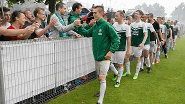 Warta Poznań - Garbania Kraków 1:0 w barażu o II ligę. Filip Brzostowski, Adrian Szynka, Łukasz Spławski