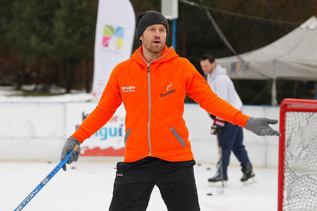 Mariusz Czerkawski na lodzie w Mysłowicach