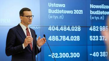 Morawiecki mówi o nowelizacji budżetu 2021.