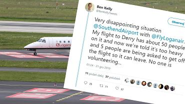 Pięciu pasażerów zostało wyproszonych z samolotu, bo był za ciężki