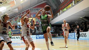 Koszykarki ŁKS podczas ostatniego meczu w hali przy al. Unii