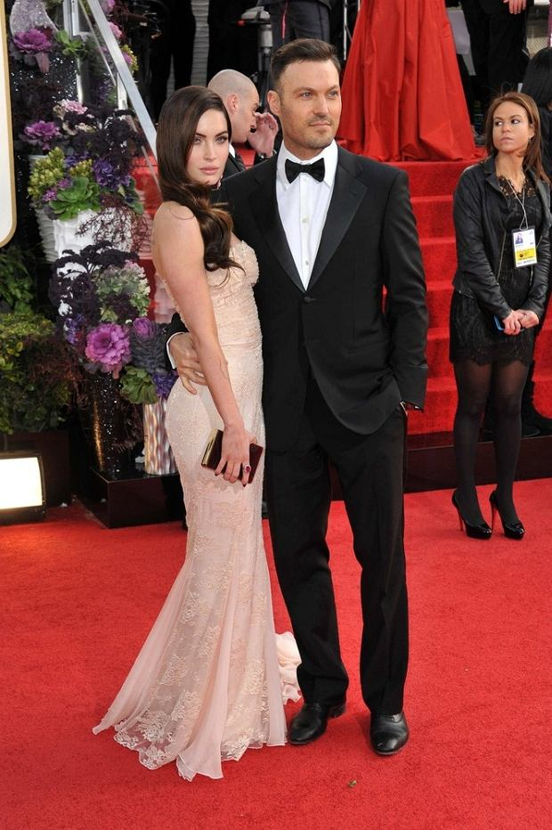 Megan Fox & Brian Austin at the 70th Golden Globe Awards at the Beverly Hilton Hotel.  January 13, 2013  Beverly Hills, CA      fot. Photoshot/REPORTER