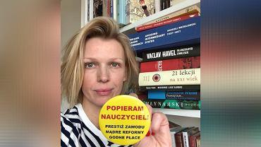 Magda Mołek popiera strajk nauczycieli