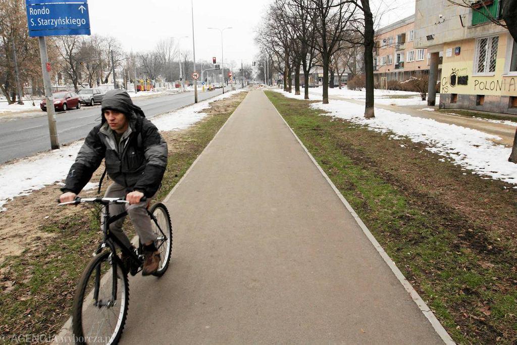 Podgrzewana ścieżka rowerowa na Jagiellońskiej