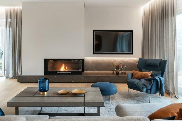 Dom pod Warszawą: przytulne wnętrza i designerskie dodatki