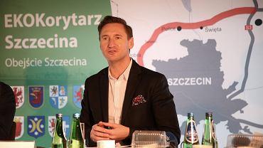 Konferencja samorządowców na temat zachodniej obwodnicy Szczecina. Marszałek Olgierd Geblewicz