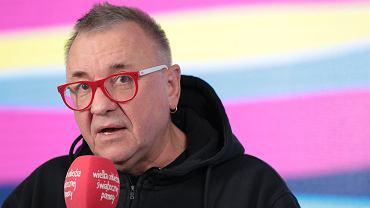 Jerzy Owsiak podczas ogłaszania wyników zbiórki