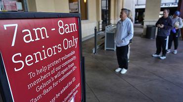 Koronawirus. Sklep w Kalifornii z wydzielonymi godzinami dla seniorów