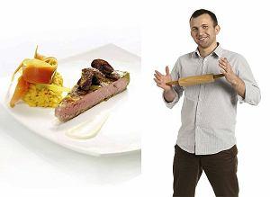 Stek z tuńczyka z risottem i borowikami