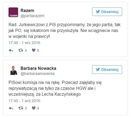 Fot. Twitter/Barbara Nowacka/Partia Razem