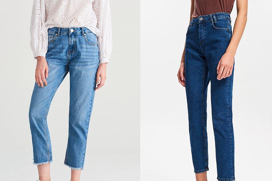 Spodnie jeansowe z prostymi nogawkami