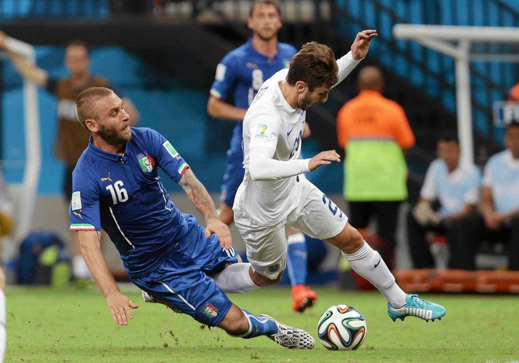 Daniele De Rossi w meczu Anglia - Włochy