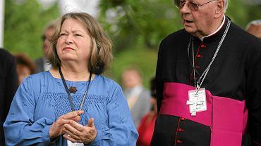 Janina Goss i arcybiskup Władysław Ziółek