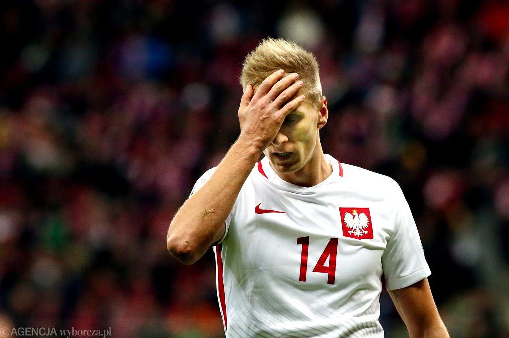 Łukasz Teodorczyk w meczu Polska - Armenia