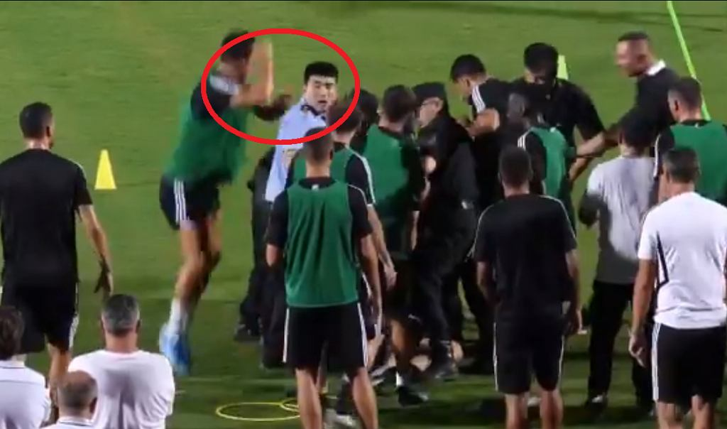 Cristiano Ronaldo 'zaatakował' policjanta