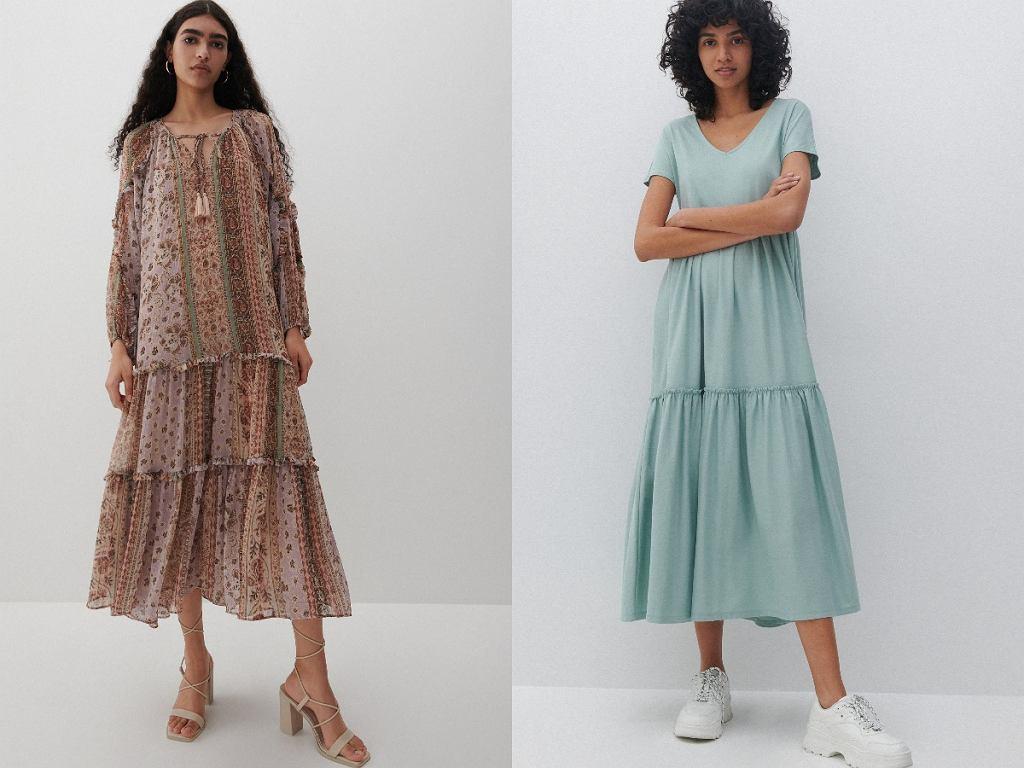 długie sukienki maskujące brzuch