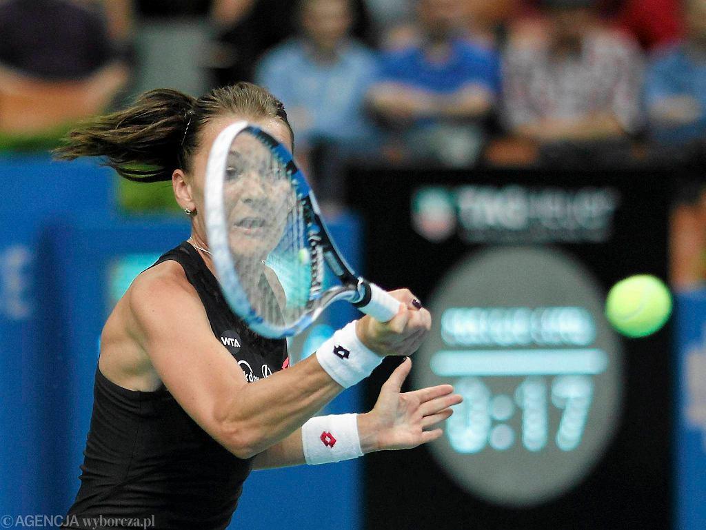 Agnieszka Radwańska w meczu z Yanine Wickemayer w Spodku