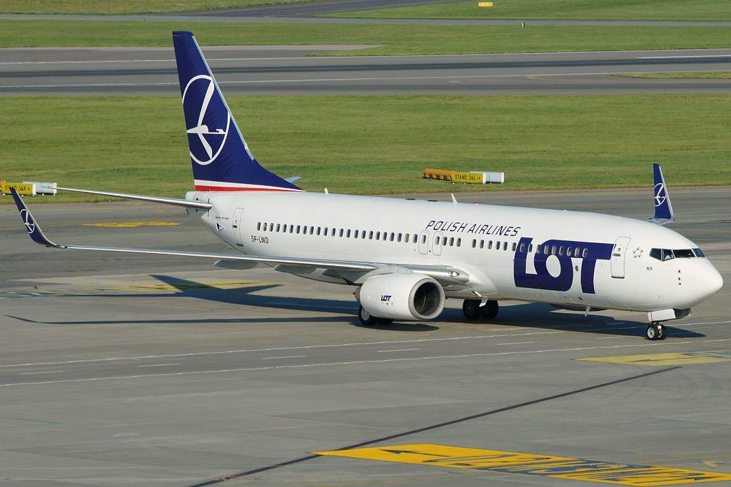 Samolot linii LOT B737-800, tego samego typu, jaki 31 maja leciał z Petersburga do Warszawy