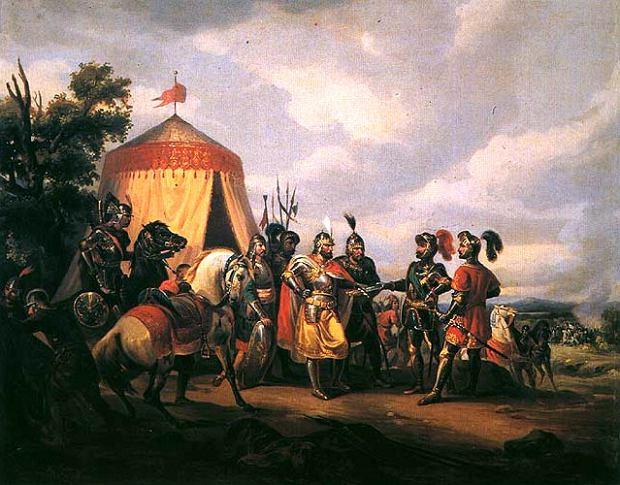 'Przed bitwą pod Grunwaldem' Feliksa Sypniewskiego (fot. Muzeum Narodowe w Krakowie)