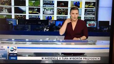 Prezenterka TVN24 zaliczyła wpadkę na wizji. Nie wiedziała, że jest na żywo.