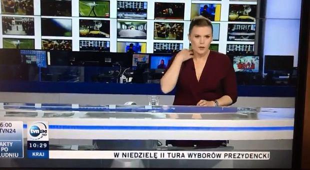 Anna Seremak podczas wieczornego wydania na żywo nie wiedziała, że jest nagrywana.