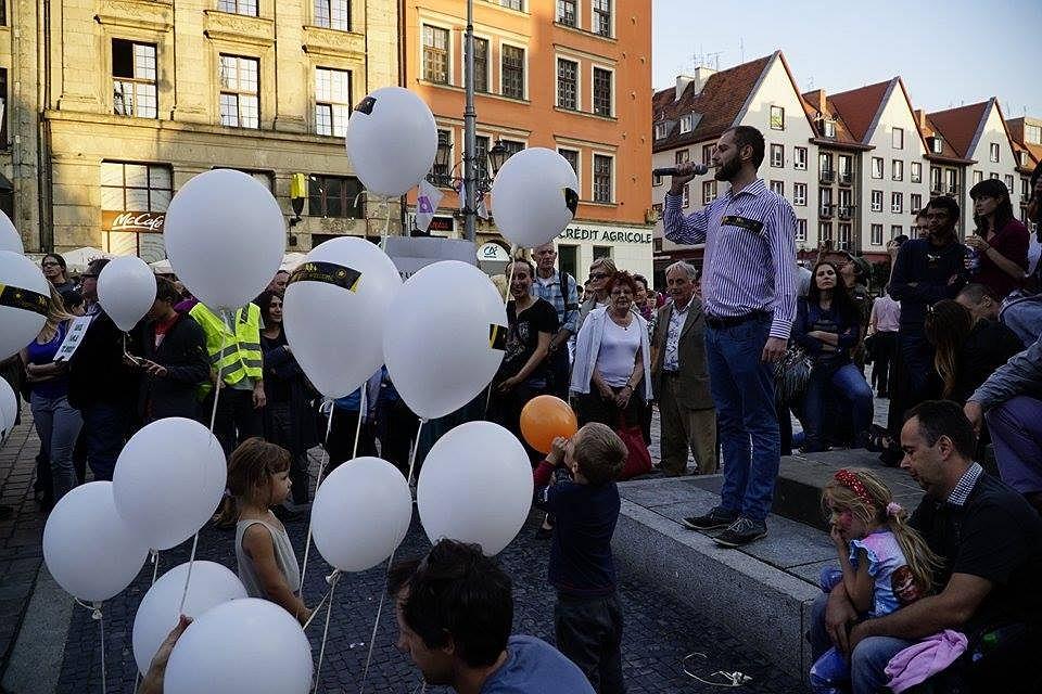 Manifa 'Wrocław wita uchodźców'