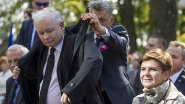 Jarosław Kaczyński, Stanisław Piotrowicz i Beata Szydło