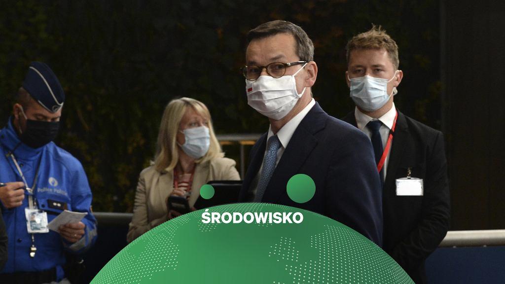 Klimat na szczycie UE. Premier Polski Mateusz Morawiecki