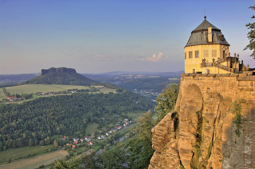 Dolina Łaby, widok z Twierdzy Königstein