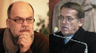 Piotr Mucharski i ks. Dariusz Oko