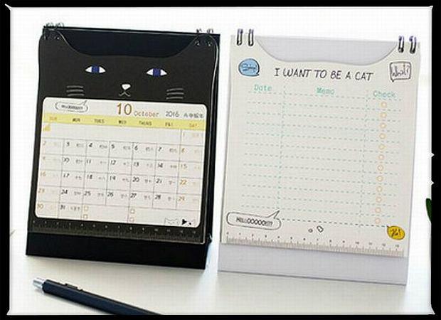 Kalendarz dla miłośników kotów, 6 dol. Fot. AliExpress