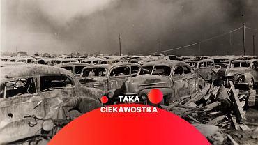 Parking około pół kilometra od miejsca eksplozji w Texas City, 1947 rok