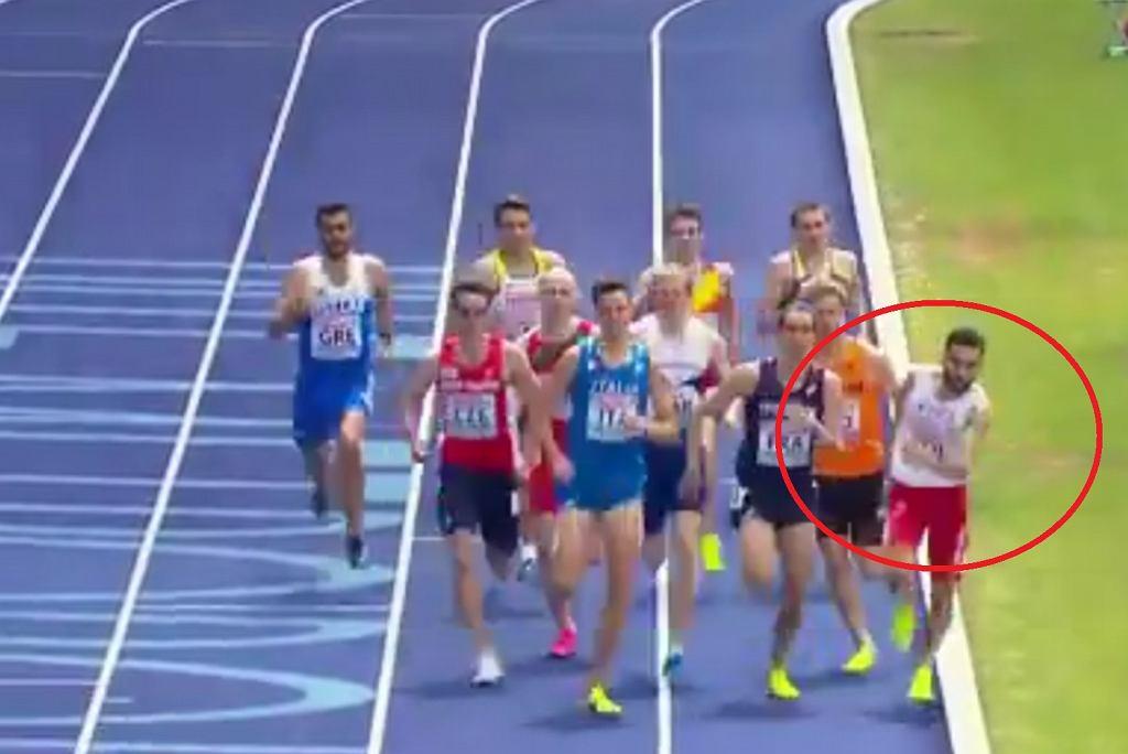 Adam Kszczot podczas biegu na 800 metrów