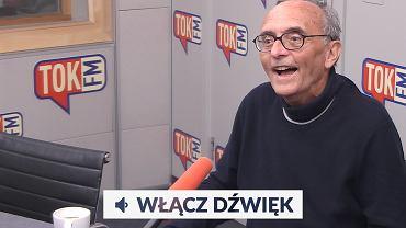 Michał Ogórek w studiu TOK FM.