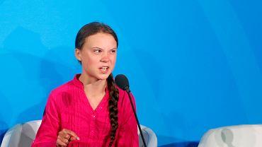 Greta Thunberg podczas szczytu klimatycznego ONZ