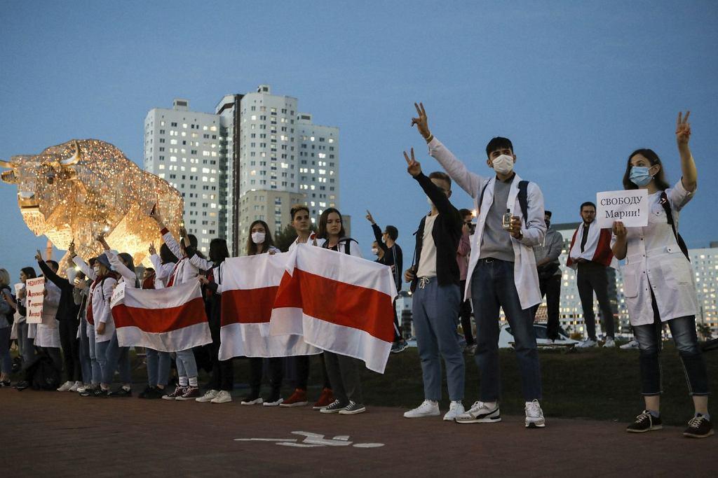 Biały Dom: Wybory na Białorusi nie były wolne i uczciwe. Zdjęcie z demonstracji w Mińsku