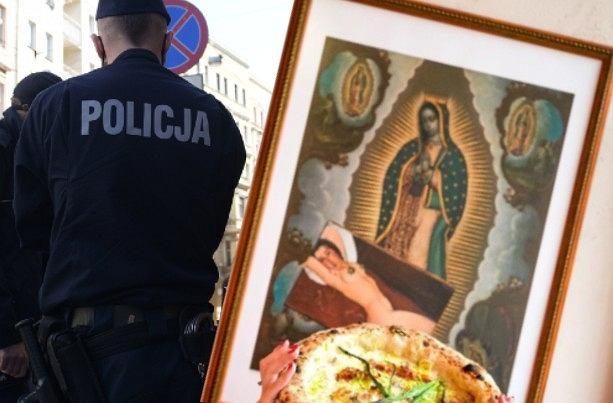 Wrocław. Policja sprawdza, czy obraz w lokalu 'obraża uczucia religijne'