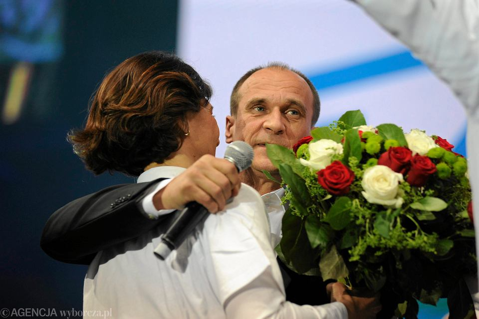 Wieczór wyborczy w sztabie Pawła Kukiza w Lubinie