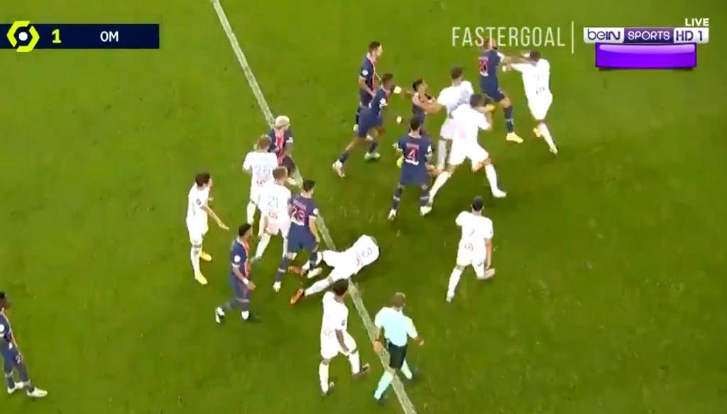 Bójka podczas meczu Paris Saint-Germain z Olympique Marsylia