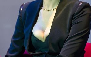 Małgorzata Foremniak, dekolt.