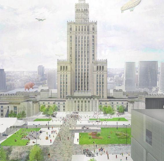 Plac Centralny w Warszawie. Projekt pracowni A-A Collective w składzie: Zygmunt Borawski, Srdjan Zlokapa, Martin Marker Larsen