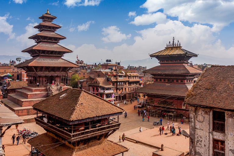 Miasto Bhaktapur w Nepalu