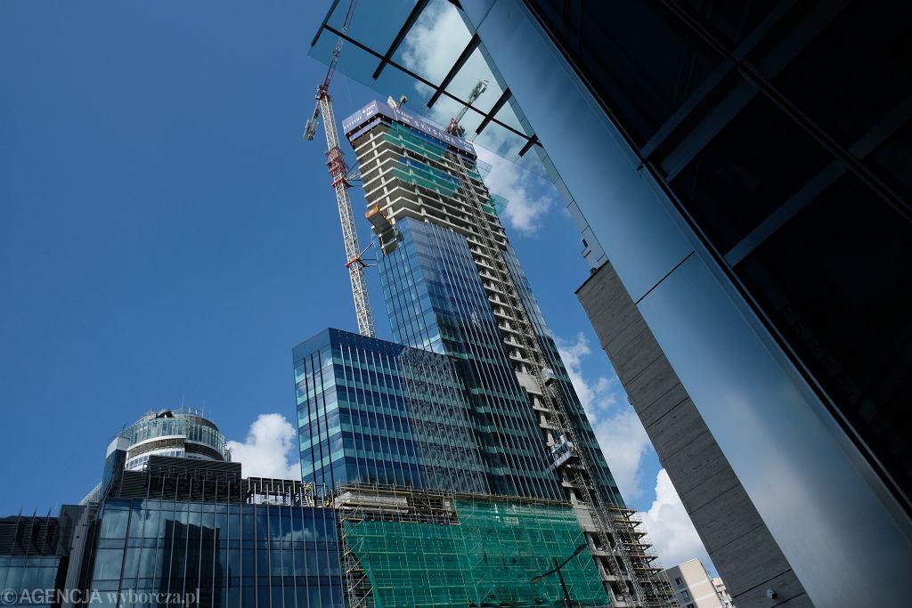 *Budowa nowego wiezowca Skysawa w Warszawie