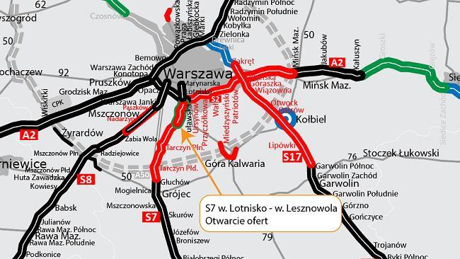 Zgłaszają się chętni na dokończenie odcinka S7. Najtańsza oferta przekracza budżet GDDKiA o ponad 126 mln zł