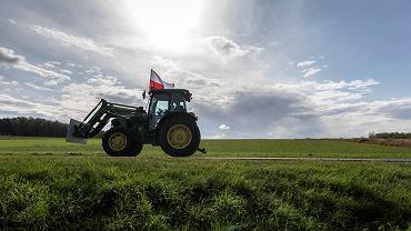 Pyskowice. Protest  rolników przeciwko 'piątce Kaczyńskiego'