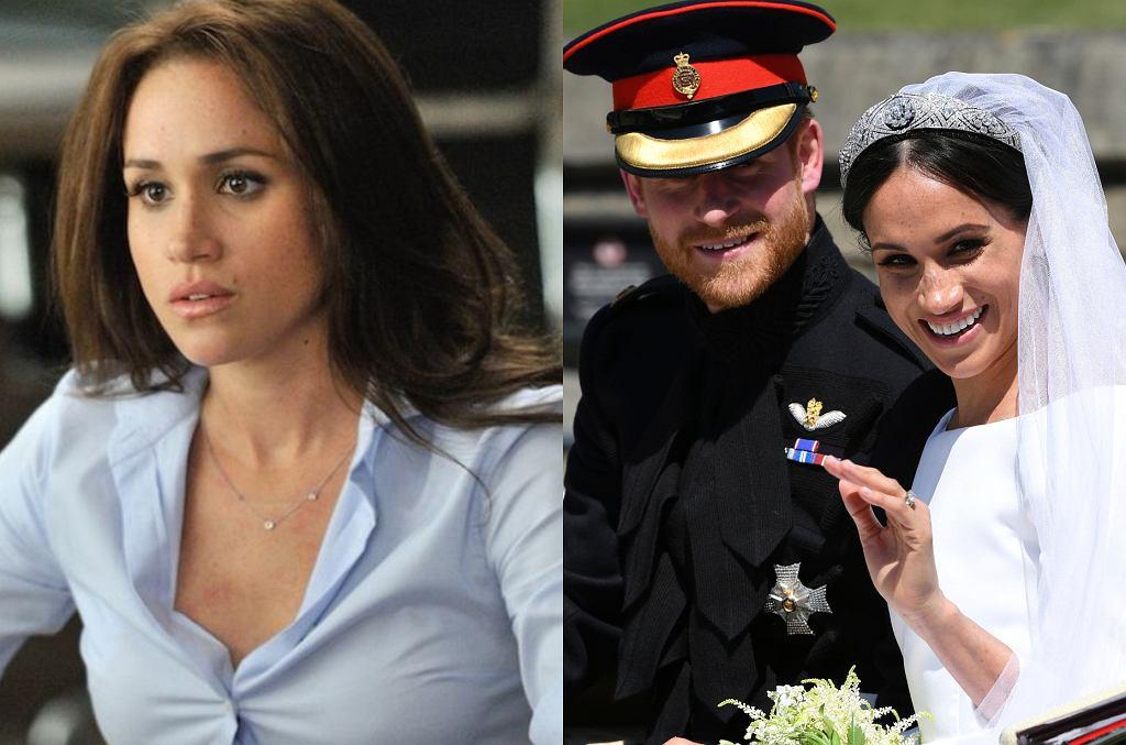 Meghan Markle w serialu 'Suits' i w dniu ślubu z księciem Harrym