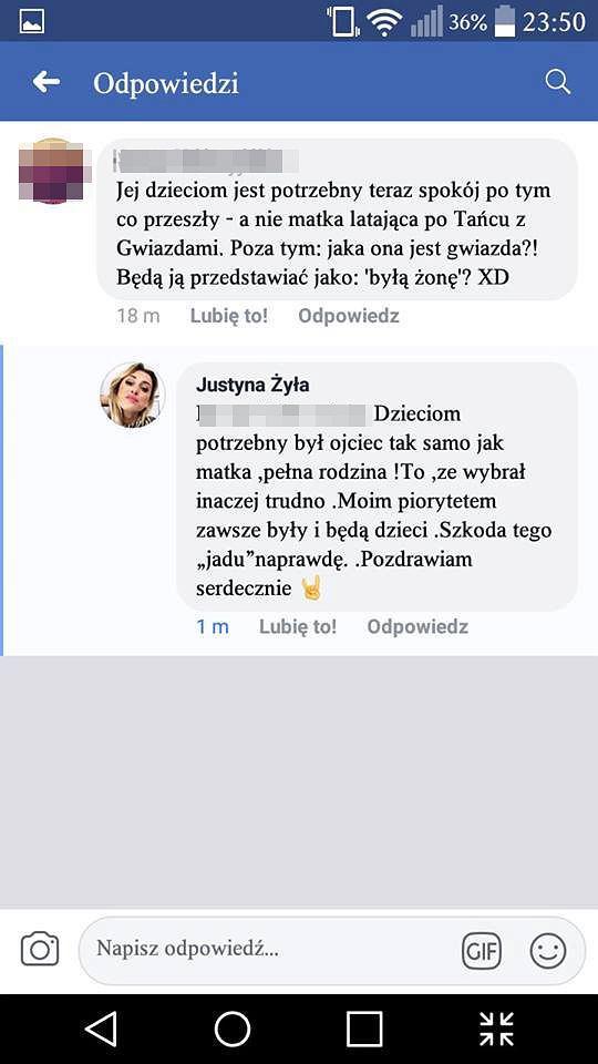 Justyna Żyła odpowiada na negatywne komentarze