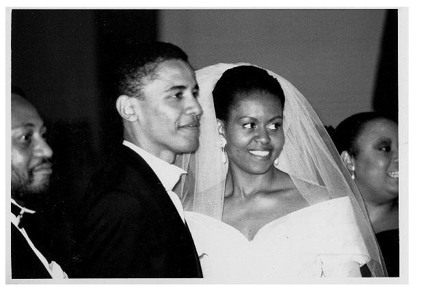 Państwo Obama w dniu ślubu