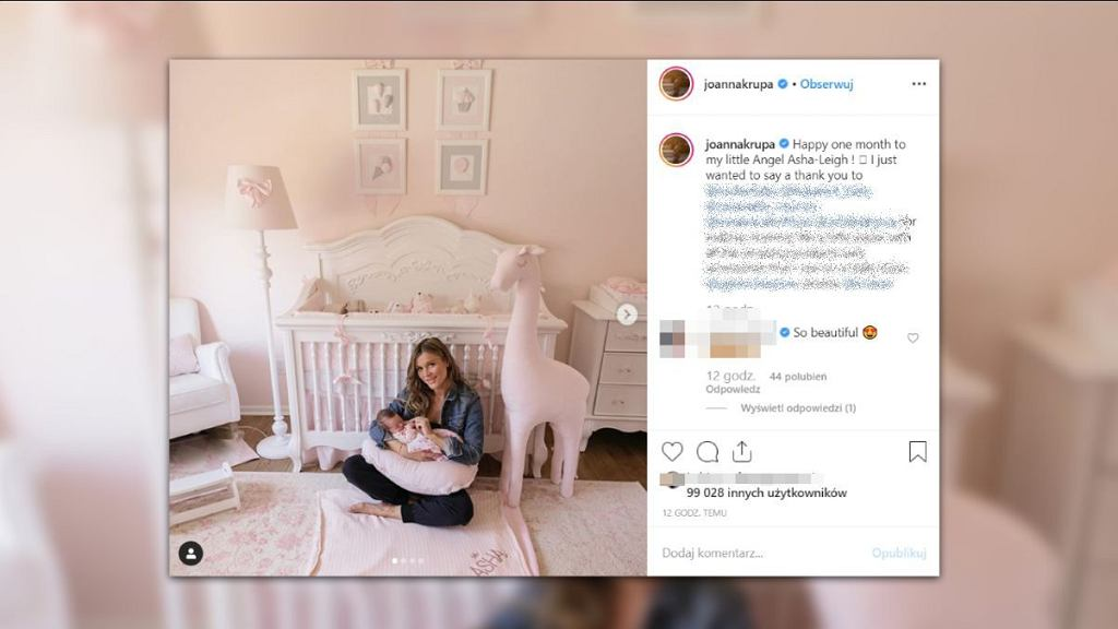 Joanna Krupa pokazała pokój swojej córeczki.